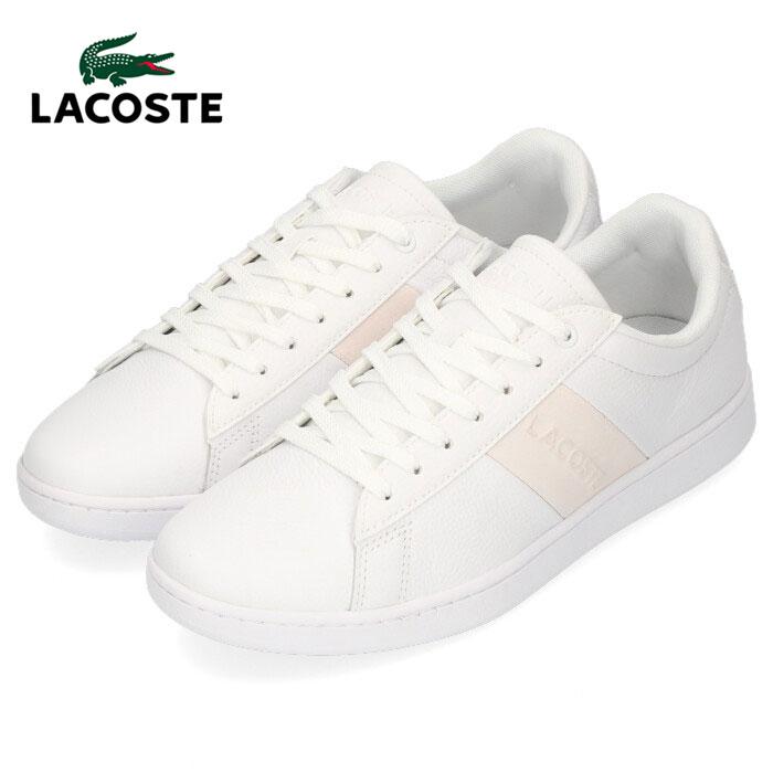 ラコステ メンズ スニーカー LACOSTE CARNABY EVO 319 1 SMA014L-65T WHT/OFF WHT ホワイト レザースニーカー 靴