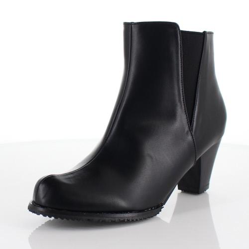 DUOMO SIENA デュオモシエナ 靴 2236 ブーツ ヒール ショートブーツ サイドゴア シンプル 防水 黒 ブラック レディース