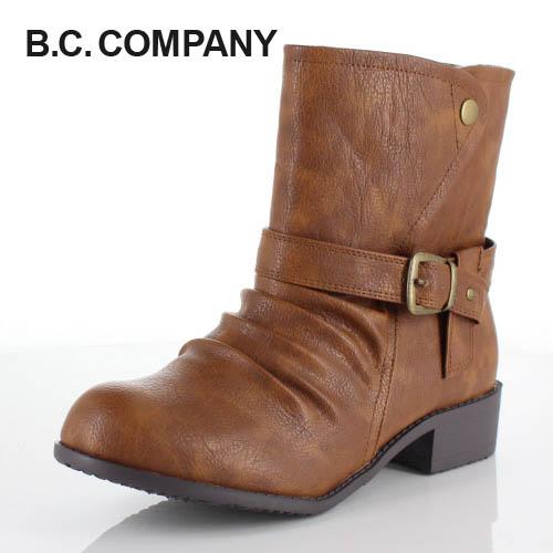 【エントリーでP5倍 5/11 20:00~5/18 1:59】 B.C COMPANY ビーシーカンパニー 靴 11828 2way ショートブーツ 防水 吸湿 発熱 消臭 ウインターブーツ キャメル ブラウン レディース