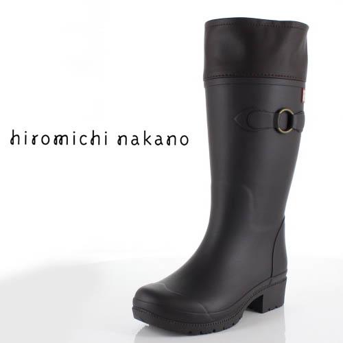 hiromichi nakano ヒロミチナカノ 長靴 HN WJ159R レインブーツ 防水 通学 2E 茶色 ブラウン ジュニア 子供 中学生 高校生 女性 レディース