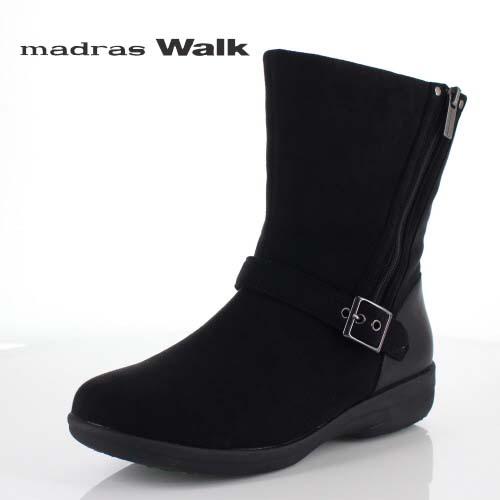 madrasWalk マドラスウォーク ゴアテックス 靴 MWL2108 防水 ブーツ ショートブーツ ストレッチ素材 4E GORE-TEX 黒 ブラック レディース セール
