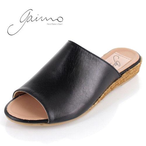 gaimo ガイモ サンダル エスパドリーユ ジュート 靴 本革 レディース 9402 NISSAN ブラック 黒 クロ セール