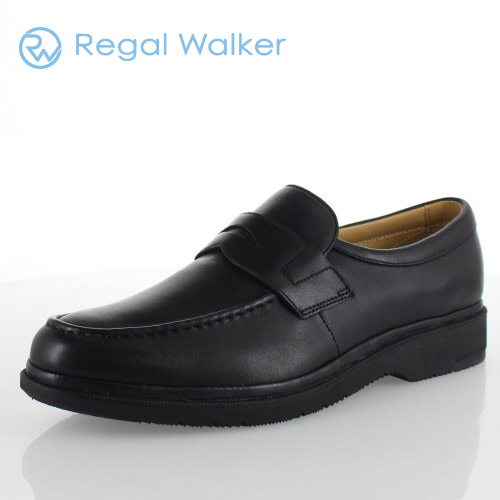 REGAL WALKER リーガル ウォーカー 靴 メンズ 287W AH B 本革 ローファー 3E ブラック 紳士靴 特典B