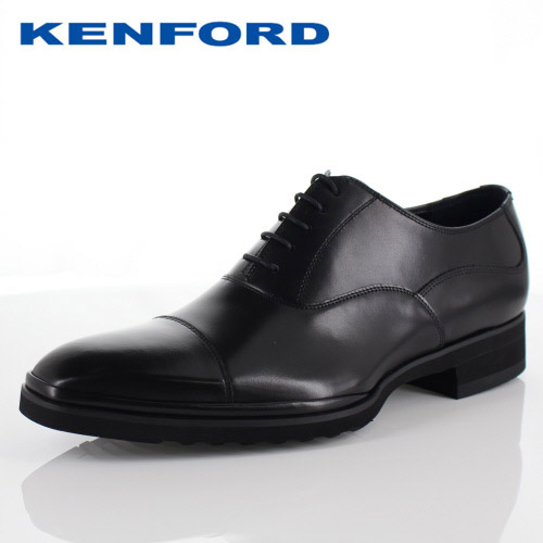 【エントリーでP5倍 4/9 20:00-4/16 1:59】 ケンフォード ビジネスシューズ KENFORD KN68 AEJ ブラック メンズ ストレートチップ 内羽根式 3E 紳士靴 本革 日本製