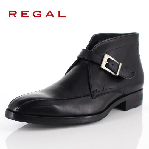【エントリーでP5倍 4/9 20:00-4/16 1:59】 リーガル REGAL 靴 メンズ ブーツ 49RR BEP ブラック ストラップブーツ 外羽根式 スワールトゥ 日本製 3E 本革 GORE-TEX 防水 特典B