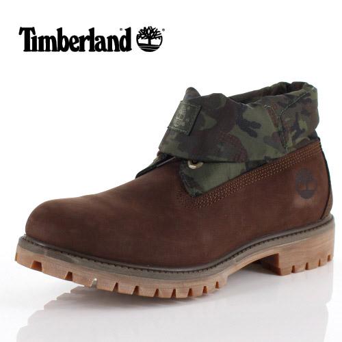 ティンバーランド Timberland メンズ ブーツ ロールトップ シングル A1UCN ダークブラウン 靴 ヌバック