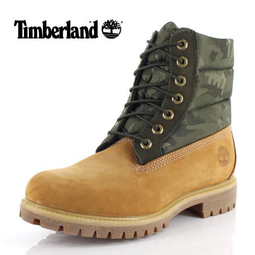 ティンバーランド Timberland メンズ ブーツ シックスインチ プレミアム パファーブーツ ウォータープルーフ A1ZRH 1 イエロー カモフラ 靴 防水 防寒
