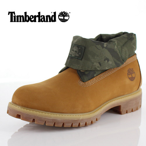 Timberland Timberland men boots roll top single A1QY4 14 ウィートブラウン shoes  nubuck sale