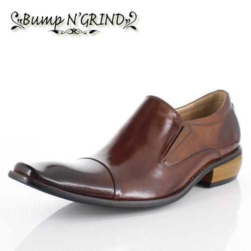 メンズ ビジネスシューズ Bump N GRIND バンプ アンド グラインド 靴 BG-2790 CAMEL ブラウン スリッポン 本革 紳士靴