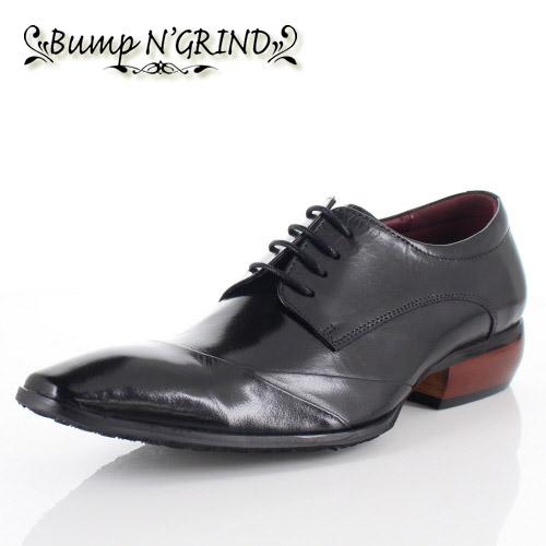 メンズ ビジネスシューズ Bump N GRIND バンプ アンド グラインド 靴 BG-6050 BLACK ブラック 外羽根 レースアップシューズ 本革 紳士靴