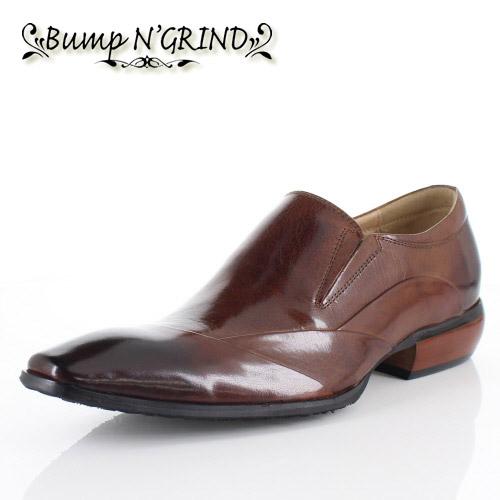 メンズ ビジネスシューズ Bump N GRIND バンプ アンド グラインド 靴 BG-6051 CAMEL ブラウン スリッポン 本革 紳士靴