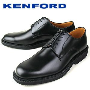 フォーマル過ぎない 外羽式のベーシックなデザイン 限定品 大きいサイズ 幅広 フォーマル 靴 牛革 レザー 黒 ケンフォード ビジネスシューズ 安全 日本製 K641 3E KENFORD 紳士靴 メンズ プレーントゥ ブラック 本革 外羽根式 AAJEB