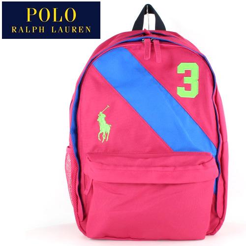 ポロ ラルフローレン POLO RALPH LAUREN 950077A BANNER STRIPE 2BACKPACK LG ピンク バックパック リュック デイパック バッグ