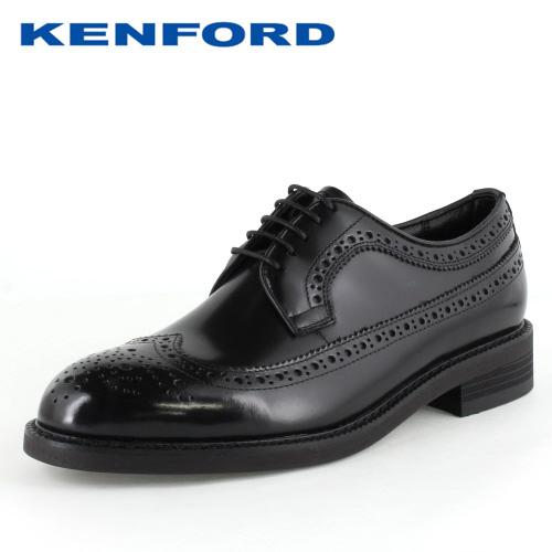 ベーシックなラウンドラストで幅広3Eウィズのウイングチップ フォーマル 靴 牛革 レザー 黒 ケンフォード ビジネスシューズ KENFORD KN35 外羽根式 3E ついに入荷 メンズ 紳士靴 ウイングチップ 本革 ブラック B AAJ 公式サイト
