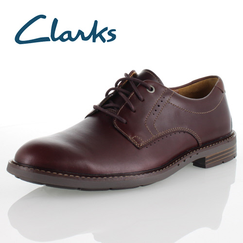 CLARKS SHOES UNELOTT PLAIN BURGUNDY LEATHER