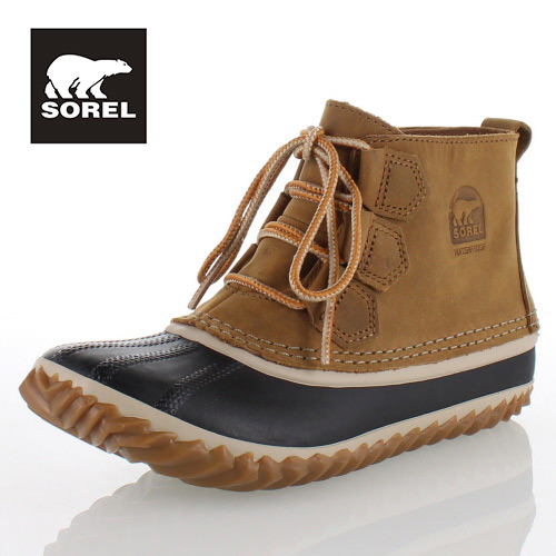 SOREL Out n About Leather NL2133 286 Elk ソレル アウトアンドアバウトレザー レディース ブーツ 防水設計