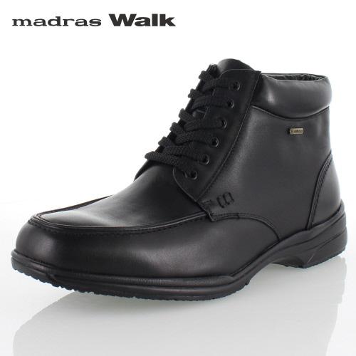 【エントリーでP5倍 4/9 20:00-4/16 1:59】 madras Walk マドラスウォーク SPMW5478 BLA ゴアテックス ブーツ メンズ ビジネスシューズ 防水 防滑 革靴 4E