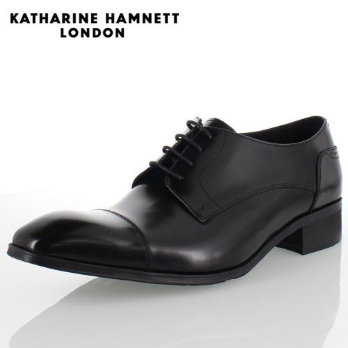 KATHARINE HAMNETT LONDON キャサリンハムネット 3969 BLACK メンズ 本革 ドレスシューズ ビジネス 外羽根ストレートチップ