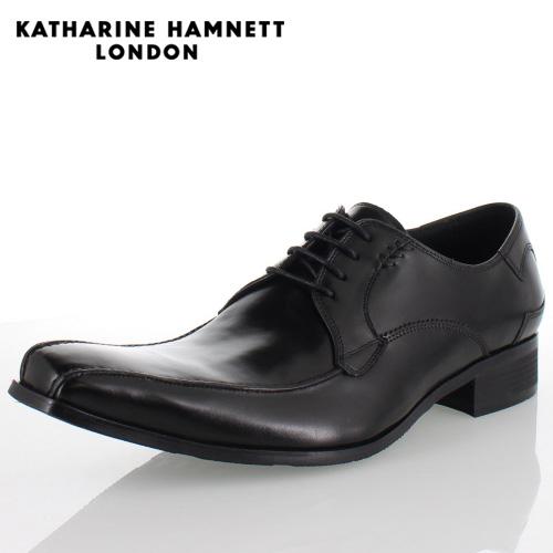 KATHARINE HAMNETT LONDON キャサリンハムネット 3972 BLACK メンズ 本革 ドレスシューズ ビジネス 外羽根スワールトゥ