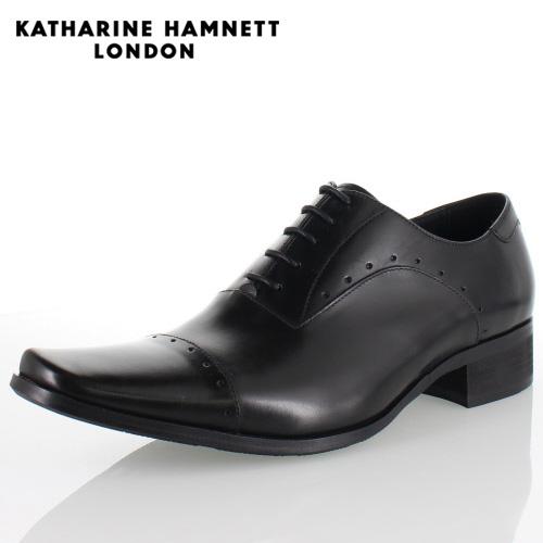 KATHARINE HAMNETT LONDON キャサリンハムネット 3978 BLACK メンズ 本革 ドレスシューズ ビジネス 内羽根ストレートチップ