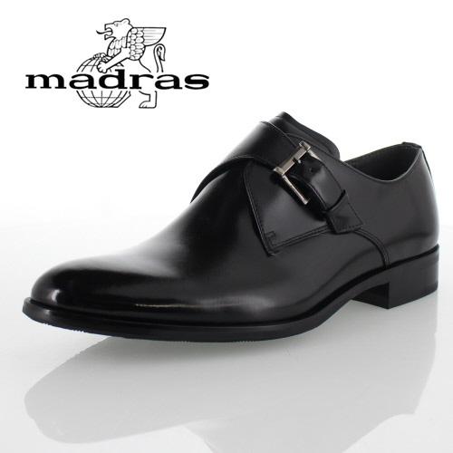 madras マドラス M4403 モンクストラップ BLA ブラック 黒 メンズ ビジネスシューズ 本革 3E 日本製