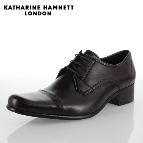 KATHARINE HAMNETT LONDON キャサリンハムネット 31441 メンズ ビジネスシューズ ダークブラウン