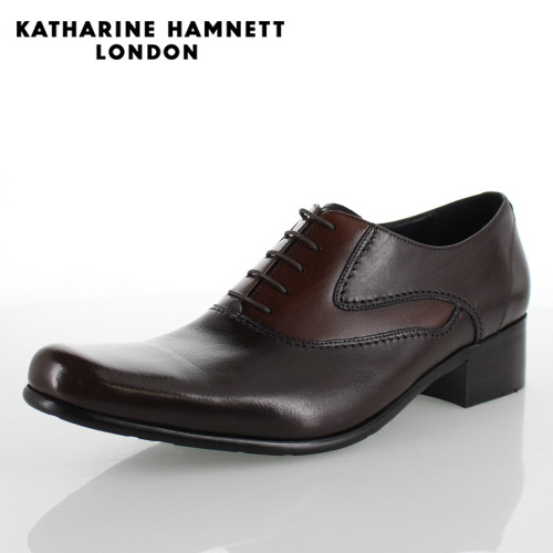 KATHARINE HAMNETT LONDON キャサリンハムネット 31442 メンズ ビジネスシューズ ダークブラウン