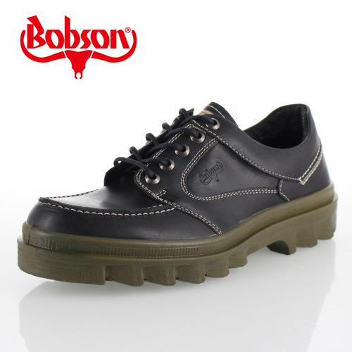 ボブソン BOBSON 4327 黒 メンズ ウォーキングシューズ アウトドアシューズ カジュアルシューズ 本革 3E 日本製