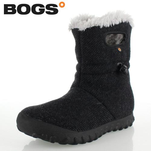 ボグス BOGS 72106 B-Moc Wool ブラック BLACK レディース ブーツ 防水 ウォータープルーフ ボア 保温 あったか