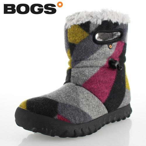 【エントリーでP5倍 4/9 20:00-4/16 1:59】 ボグス BOGS 72106 B-Moc Wool グレー DK GRAY GOLD レディース ブーツ 防水 ウォータープルーフ ボア 保温 あったか