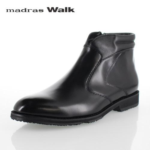 マドラスウォーク ゴアテックス madras Walk SPMW5506-BLA ブラック メンズ ビジネスシューズ 防水 防滑 革靴 4E ショートブーツ セール