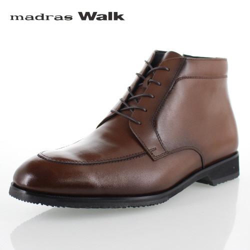 マドラスウォーク ゴアテックス madras Walk SPMW8006 BRN メンズ ビジネスシューズ レースアップブーツ 防水 防滑 防寒 革靴 4E ブラウン