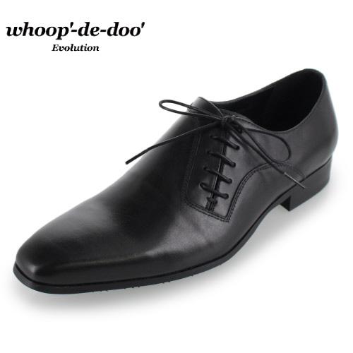 whoop-de-doo フープディドゥ Evolution 307593 BL ブラック レザー シューズ 靴 サイドレース カジュアルシューズ 本革 紳士靴