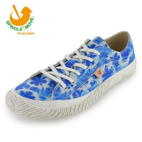 スピングルムーブ SPINGLE MOVE SPM-131 Blue ブルー 絞り染め メンズ レディース スニーカー 靴 日本製 豚革