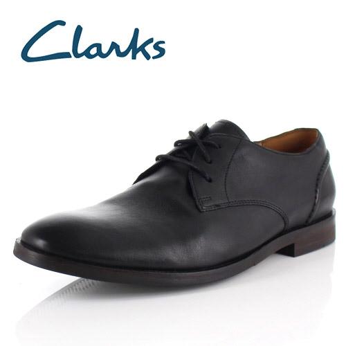 クラークス メンズ ビジネスシューズ Clarks Glide Lace グライドレース 031J ブラック プレーントゥ 外羽根 本革 靴