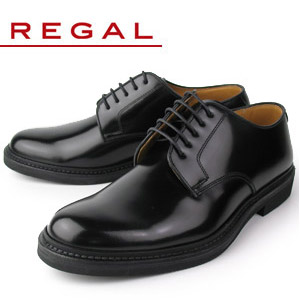 【エントリーでP5倍 4/9 20:00-4/16 1:59】 リーガル REGAL 靴 メンズ ビジネスシューズ JU13 AG ブラック プレーントゥ 外羽根式 紳士靴 日本製 2E 本革 特典B