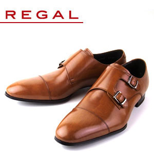【エントリーでP5倍 4/9 20:00-4/16 1:59】 リーガル REGAL 靴 メンズ ビジネスシューズ 636R AL ブラウン ストレート ダブル モンクストラップ 紳士靴 日本製 2E 本革 特典B