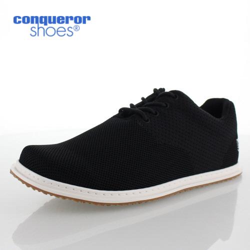 コンカラー シューズ シーサイド 106 BLACK KNIT conqueror SEASIDE メンズ スニーカー 靴 ブラック
