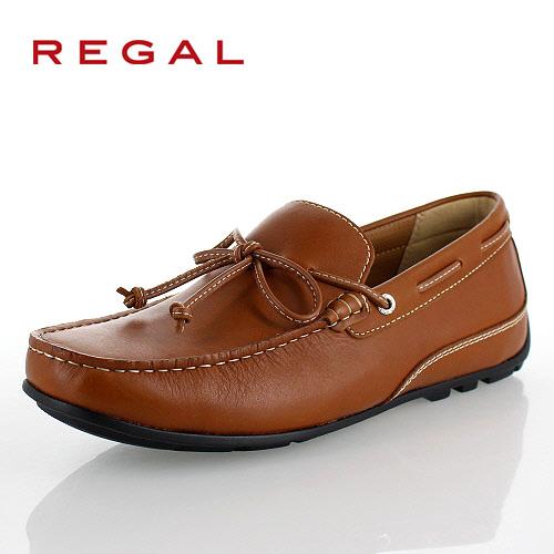 リーガル 靴 メンズ REGAL 55PRAF ブラウン カジュアルシューズ ドライビング リボン スリッポン スクエアトゥ 2E 本革 紳士靴 特典B