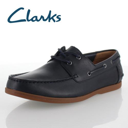 クラークス メンズ Clarks Morven Sail 913E モーベンセール ネイビー レザー デッキシューズ 紳士靴 靴 正規品 セール