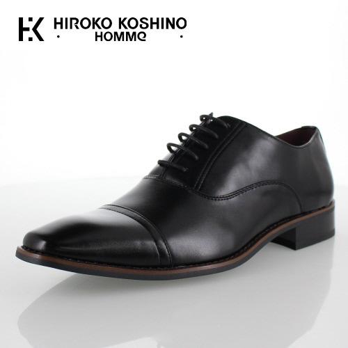 ヒロコ コシノ オム HIROKO KOSHINO HOMME HK9801 ブラック メンズ 靴 ビジネスシューズ ストレートチップ 内羽式 3E レギュラー 大きいサイズ 29.0 30.0