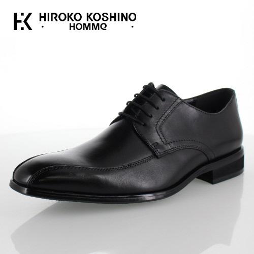 ヒロコ コシノ オム HIROKO KOSHINO HOMME HK127 ブラック メンズ 靴 ビジネスシューズ スワールモカ 外羽式 本革 3E