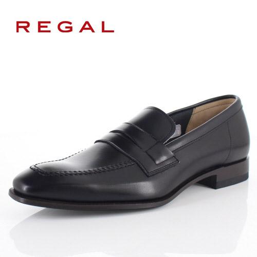 【エントリーでP5倍 4/9 20:00-4/16 1:59】 リーガル 靴 メンズ REGAL 42TRBD ブラック ローファー ビジネスシューズ 2E 本革 紳士靴 日本製 特典B