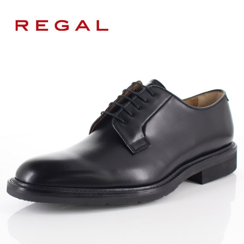 リーガル 靴 メンズ REGAL 14TRBH ブラック ビジネスシューズ プレーントゥ 2E 本革 紳士靴 外羽根式 日本製