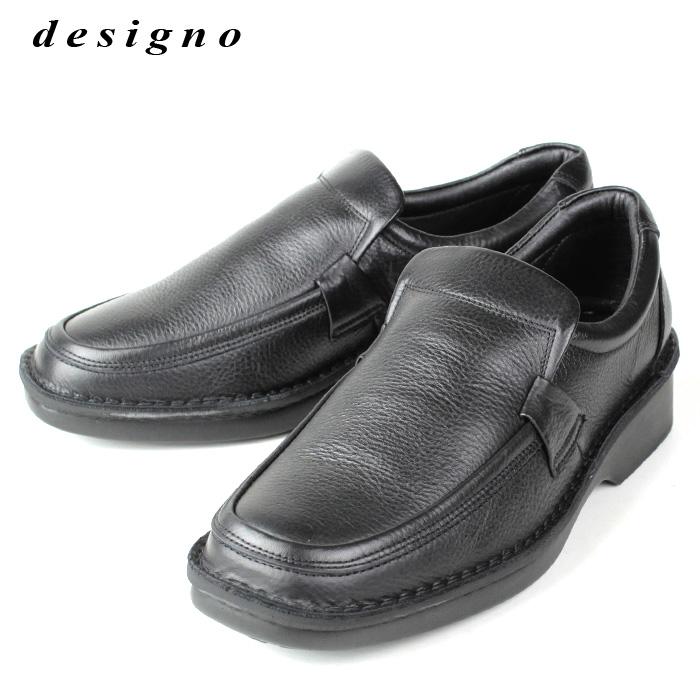 デジーノ designo 4510 メンズ カジュアルウォーキングシューズ スリッポン ブラック
