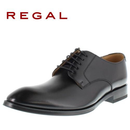 リーガル REGAL 靴 メンズ ビジネスシューズ 810R AL ブラック プレーントゥ 外羽根式 紳士靴 日本製 2E 本革 特典B