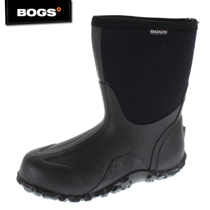【エントリーでP5倍 4/9 20:00-4/16 1:59】 BOGS ボグス CLASSIC MID BG-61142 BLK メンズ ブーツ