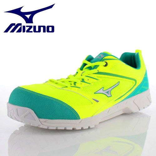 安全靴 ミズノ MIZUNO オールマイティVS 紐タイプ F1GA180345 メンズ 靴 イエロー シルバー グリーン ワーキング スニーカー 3E