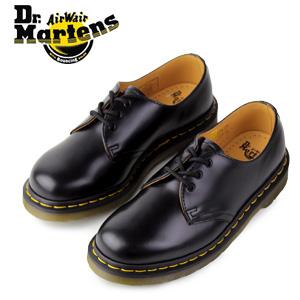 ドクターマーチン 3ホール ギブソン Dr.Martens 1461 3EYE GIBSON SHOE BLACK SMOOTH 10085001 レディース メンズ