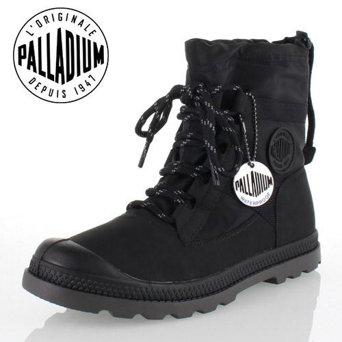 パラディウム PALLADIUM Pampa Hi Blitz LP 95169-008-M BLACK レインシューズ スニーカー レディース ウォータープルーフ